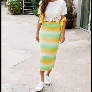 NEW Anthropologie Dolan Wool Blend Citrus Skirt